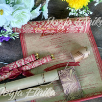 Undangan Pernikahan Gulung Bambu Khas Jogja