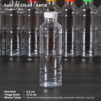 Botol Plastik 330 ml Almond / Botol Plastik 330 ml - Short Neck