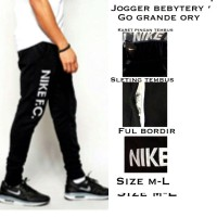 Jogger NIKE Hitam | sweatpants | Training | Celana Olahraga | Parkour