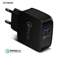 JOYSEUS charger QC 3.0 Quick Charge Fast Charging bukan samsung xiaomi - Hitam