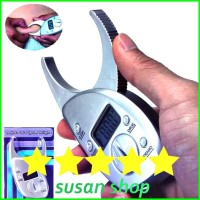 New Digital Body Fat Caliper LCD Alat Pengukur Kadar Lemak Tubuh Diet