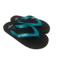 Sandal Jepit / Sendal Jepit Ando Hawaii Like in Black Turquoise