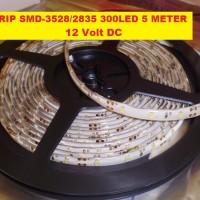 LED Strip Flexible SMD-3528 WATERPROOF 300LED 5M/1ROLL Kualitas Bagus