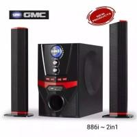 GMC 60 watt Speaker Multimedia Bluetooth 2 in 1 - 886i