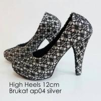 Super Murah! INDOSHOPZ LUBELY Ap04 brukat high heels