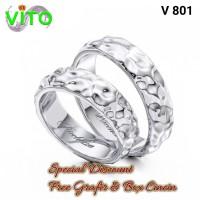 Cincin Pria Cincin Sepasang Couple Cincin Kawin Tunangan Perak V-801