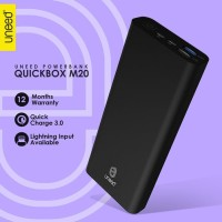 UNEED QuickBox M20 PowerBank 20.000mAh Quick Charge 3.0 Real Capacity