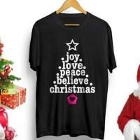 Kaos Natal Christmas Spesial #3 hitam cocok untuk kado natal XXXL