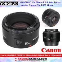 YONGNUO YN 50mm F1.8 Auto Focus Lens for Canon DSLR EF Mount Lensa