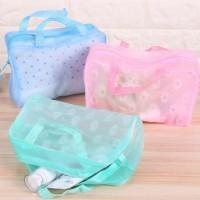 Tas Kosmetik Transparan Murah Waterproof Make Up Cosmetic Bag Storage