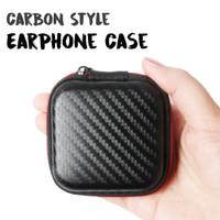 NESTO -  Carbon Fiber Quality Case/ Pouch / Holder / Dompet Earphone