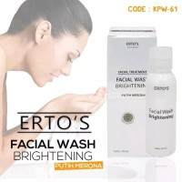 ERTOS FACIAL WASH BRIGHTENING ORIGINAL BPOM - FACIAL TREATMENT ERTOS