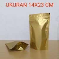 pouch alumunium foil emas 500gr tebal 90 micron