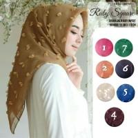 jilbab pashmina rubiah dot organza / hijab pasmina rubi / ruby organdi