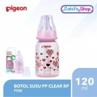 Botol Susu Pigeon PP Clear RP 120ml - PINK - Slim Standard Neck 120 ml