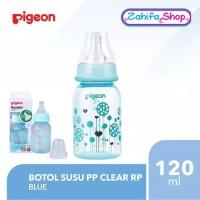 Botol Susu Pigeon PP Clear RP 120ml - BLUE - Slim Standard Neck 120 ml