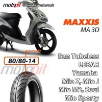 Maxxis MA 3D 80/80-14 Ban Depan Lebar Yamaha Mio J Z Sporty Soul M3