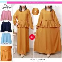 Baju Gamis Wanita Jumbo Terbaru / Long Dress Jumbo Big Size S28046-4XL