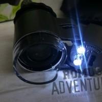 Mikroskop Mini Senter Batu Akik Cincin Lensa 50X + Dual Led + Sinar Uv