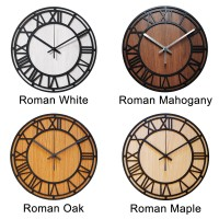 Jam Dinding Roman Wall Clock Mesin Sweep Movement