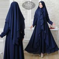 Baju Busana Muslim Gamis Wanita Syari Pesta Ceruty Rikaya Terbaru