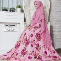 Baju Busana Muslim Gamis Wanita Syari Pesta Katun Jeshina Terbaru