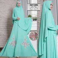 Baju Busana Muslim Gamis Wanita Syari Pesta Bubble Latifa Terbaru
