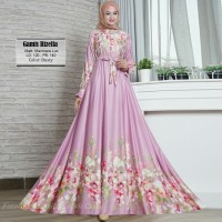 Baju Busana Muslim Gamis Wanita Syari Pesta Maxmara Rizella Terbaru