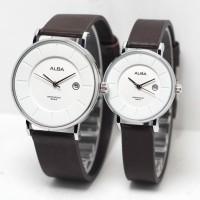 JAM TANGAN Alba - Watch WD Leather Couple