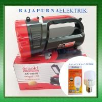 Lampu senter + emergency light LED AOKI ak-7000S + LED ECOKING 5W