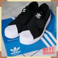 Adidas Women's Original Superstar Slip-On Shoes Black