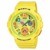 Jam Tangan Casio Baby-G Wanita Analog Digital Kuning BGA-190-9DR
