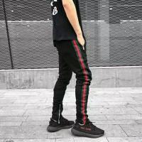 GUCCI LIST PANTS ZIPPER celana training joger olahraga korean kpop bts