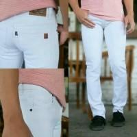 celana putih jeans skinny pensil pria