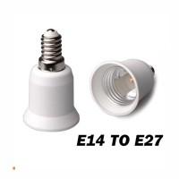 Konverter Fitting Lampu E14 Ke E27 Cap Lamp Light Converter Adapter