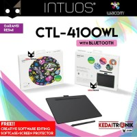 Wacom Intuos CTL 4100WL Bluetooth Small Pen Tablet Comic Wireless Art