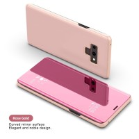 CASING SAMSUNG NOTE 9 / A7 2018 FLIP COVER MIRROR STAND AUTOLOCK CASE