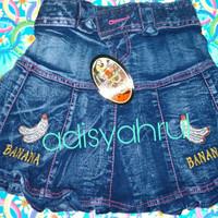 Rok jeans pendek anak 3-5thun