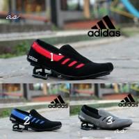 Sepatu Adidas Slip On Slop Pria Kulit Suede Nike Cat loafers