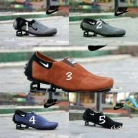 Sepatu Slip On Kulit Suede Nike Pria Slop Pesta Kantor Santai Terlaris