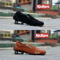 Sepatu Kickers Slip On Pria Slop Crocodile Terbaru Kualitas bagus