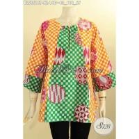 Model Busana Batik Wanita Lengan 7/8 Kancing Depan Size XL BLS8515P