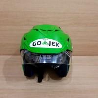 Helm helem helmet Ojol Gojek model Double Visor SNI Hitam