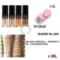 MILANI 2 IN 1 FOUNDATION SHARE IN JAR 5ML (SHARE IN JAR) NATURAL 5ML
