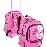 tas koper troly anak perempuan j7 tas sekolah anak cewek serbaguna