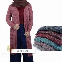 Sweater Wanita Baju Rajut Modis Cewek Long Cardy
