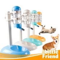 Botol Minum Tempat Makan Otomatis Standing Pet Feeder Anjing Kucing