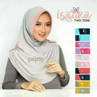 Premium hijab jilbab instan bergo ISAURA TWO TONE Syari