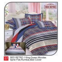 Rumindo Bedcover Set Red Retro