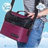 Tas Asi Natural Mom Red Velvet/ Cooler Bag / Thermal Bag BONUS Ice Gel